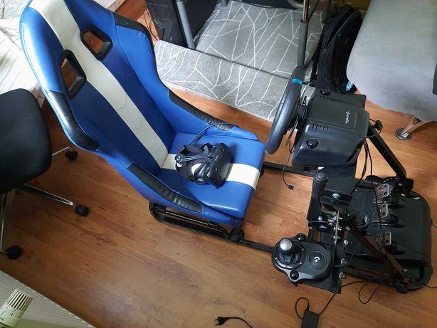 Logitech G29 + Shifter i ręczny + stelaż z fotelem + HTC VR
