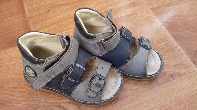 Ортопедические кожаные сандали шалунишка.23размер.