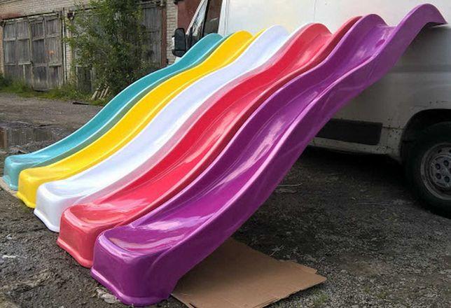 Спуск пластиковый 3 метра, Пластиковая горка 3м, Гірка скат