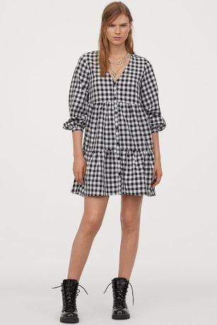 Sukienka z dekoltem w serek Krata H&M 42 jNOWA