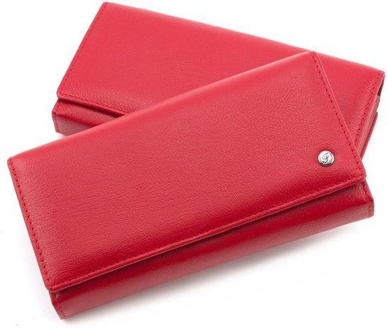 Красный женский кошелек с блоком под карточки Salfeite