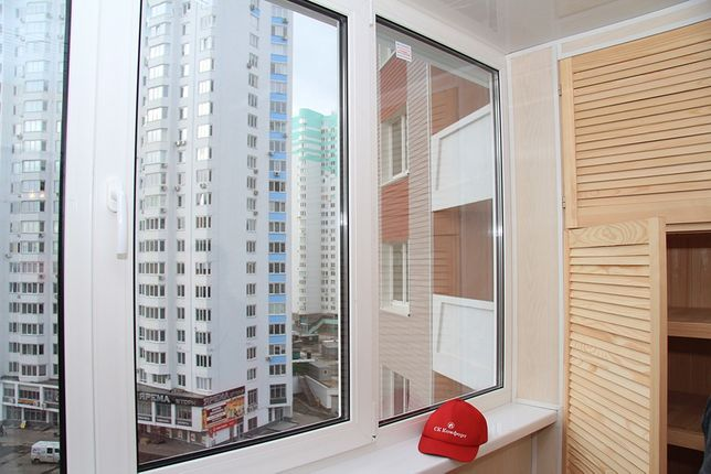 Ремонт балкона под ключ. Обшивка балкона 3 метра