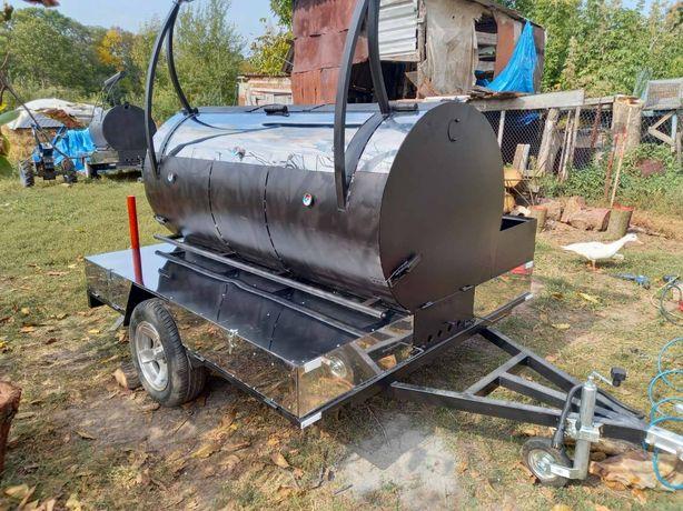 Прицеп мангал, BBQ, барбекю, жаровня торговый ярмарка