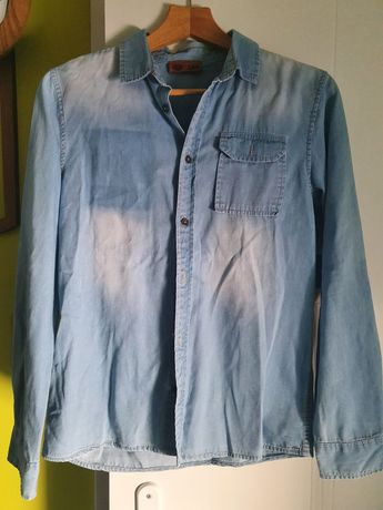 dżinsowa koszula chłopięca r164