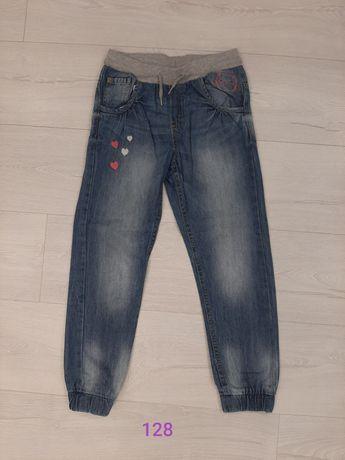 Spodnie jeansy dziewczęce 128