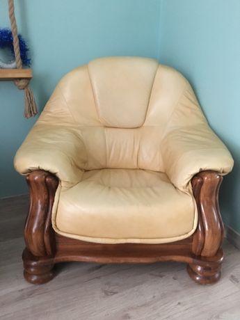 Meble Wypoczynkowe Sofa Skórzana Trójka Fotel Meble do Salonu