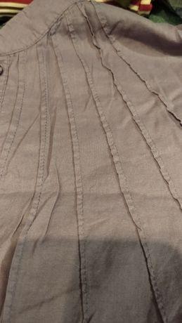 Dłuższa bluzka koszulowa, kieszenie, Cropp chillin, rozmiar M