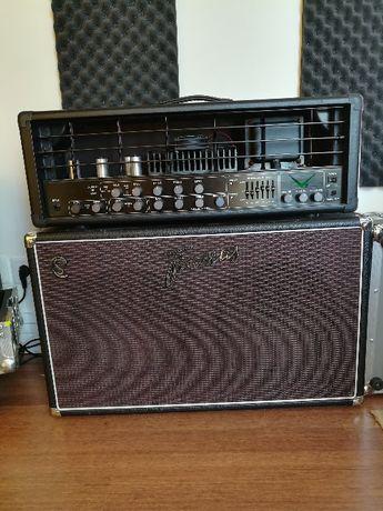 Amplificador Randall V2HE Coluna Framus CS 2x12 e Flighcases