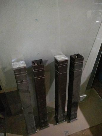 Огромный Стол (Стеклянная столешница и 4 ножки)