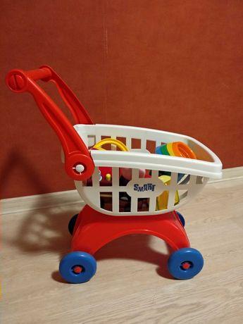 Дитяча тележка + іграшки
