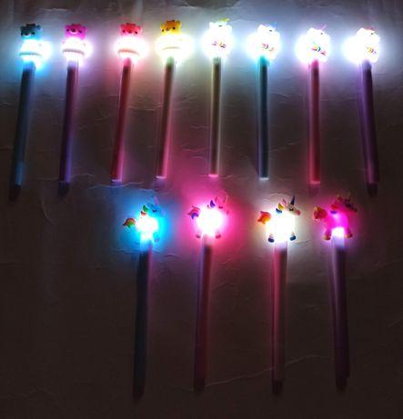 Ручки, що світяться з єдинорожками та мішками