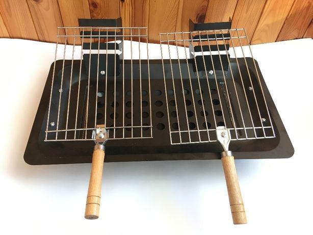 Переносной портативный мангал для барбекю с решетками