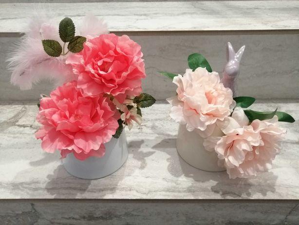 Ozdoba Wielkanoc wiosna prezent różowe kwiaty