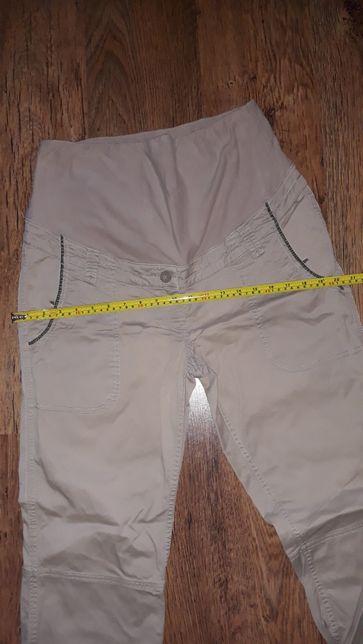 Spodnie Bawełniane ciążowe 44 beżowe