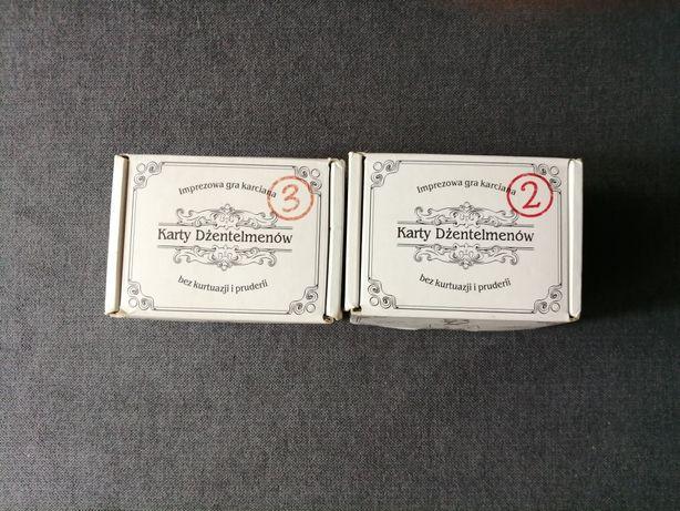 Karty dżentelmenów 2 oraz 3