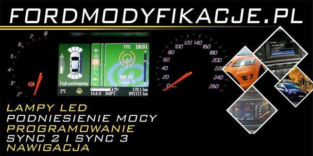 Convers +, ford fusion, focus, mondeo Sync 2 3 navigacja klucze MOC