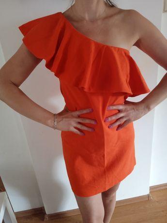 Sukienka MOHITO pomarańczowa