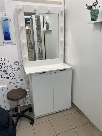 Тумба с зеркало гримерное