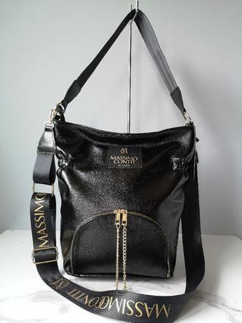 elegancka czarna torebka Massimo Contti