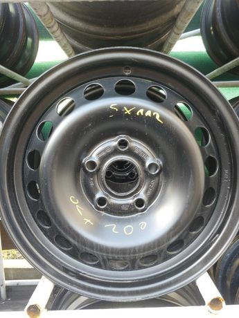 "4 felgi stalowe 5x112 VW Seat Skoda Audi 6Jx 15"" et47"