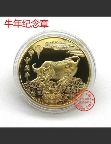 Символ года 2021 Бык монета сувенирная бычок