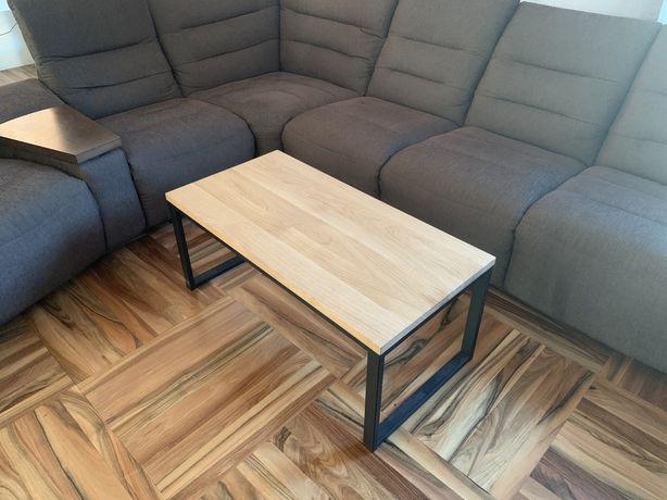 Dębowy stolik kawowy 100x50, industrial, loft. Dostępny od ręki.