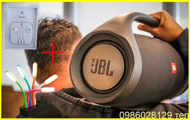 Колонка Портативная JBL BOOMBOX BIG Блютуз ДЖБЛ Бумбокс Bluetooth +ПОД