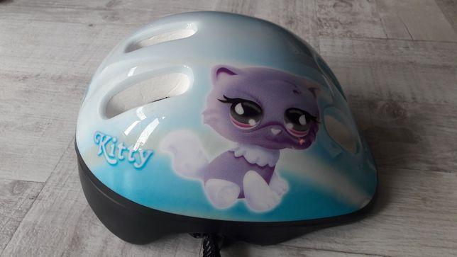 Kask na rower ,,Kitty,, rozmiar S