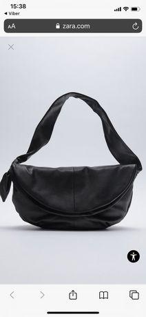 Кожанная сумка zara