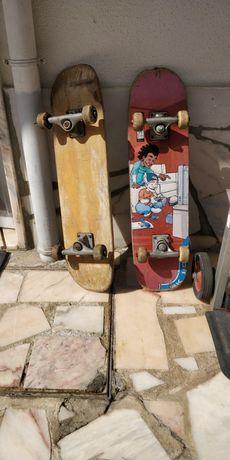 2 skates usados e personalizados