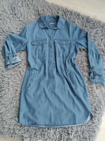 Sukienka koszulowa jeans rozpinana 42