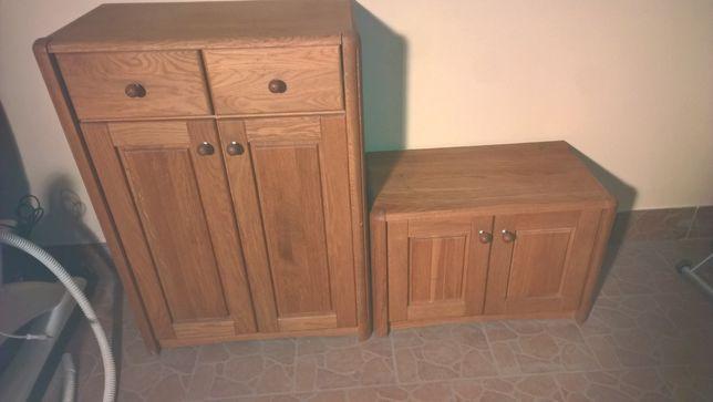2 Szafki przedpokój komoda z pełnego drewna Szafka