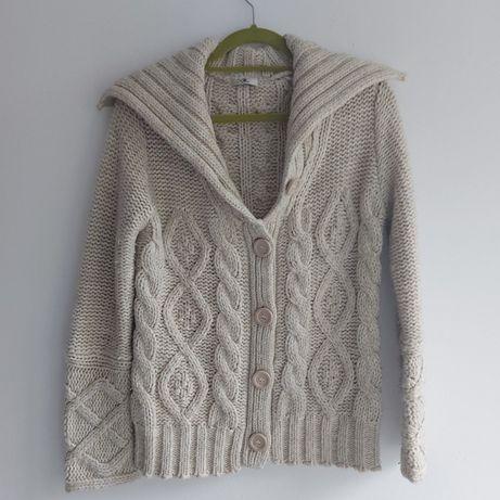 Sweter 40 L akryl, norweski, zimowy, boho ciepły