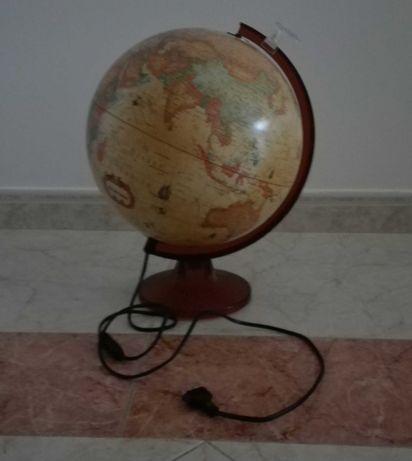 Candeeiro globo terrestre