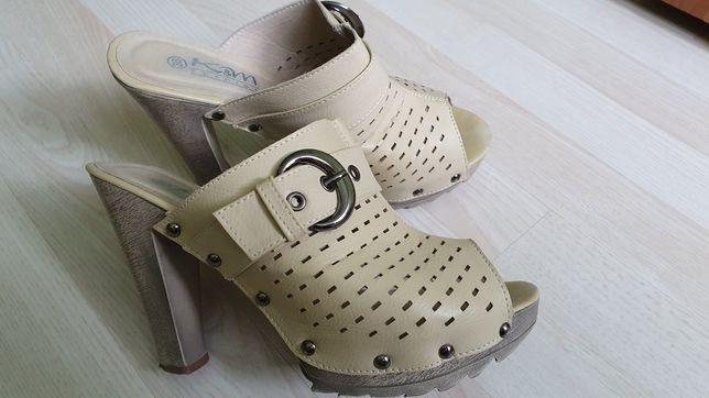 Buty laczki na platformie