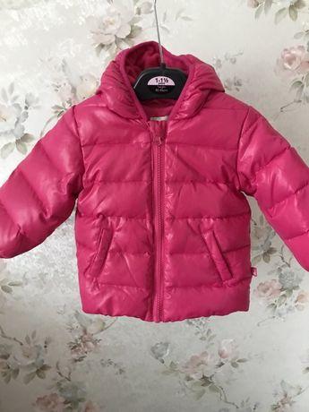 Куртка курточка пуховик для девочки Benetton