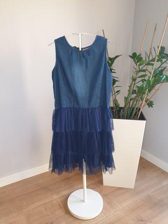 Sukienka Cool Club SMyk jeans tiul rozm. 164