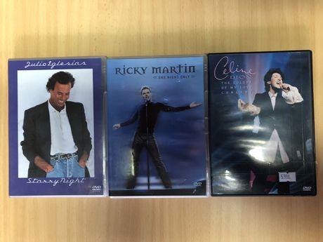 3 DVD Musica Celine Dion / Ricky Martin / Julio Iglesias