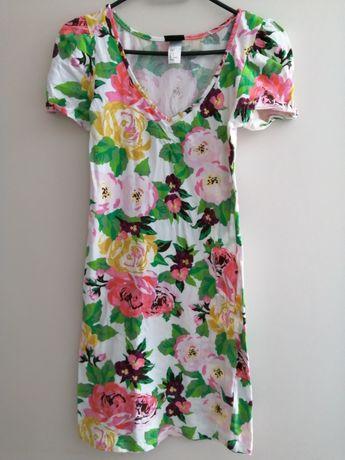Tunika w kwiaty H&M S bufki