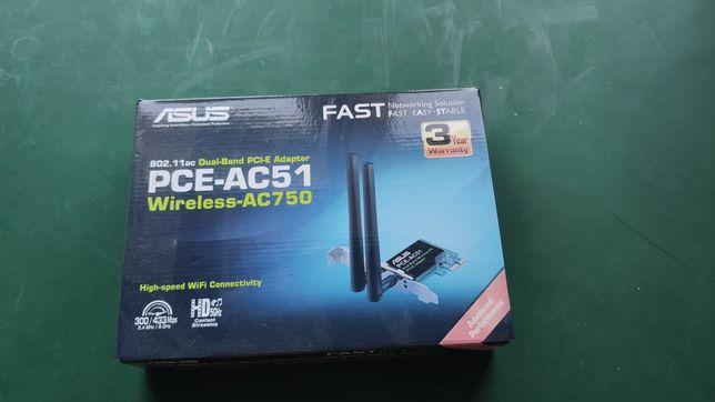 Karta sieciowa wifi pci-e 2,4/5 GHz ASUS PCE-AC51