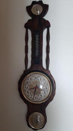 Relógio parede com termómetro