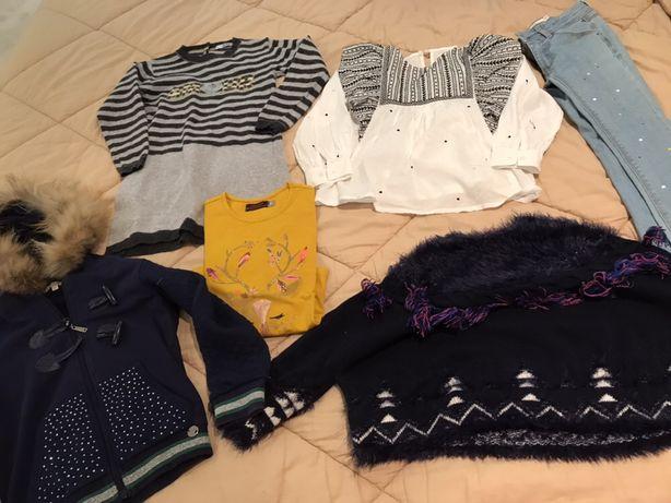 Lote de roupa menina 5 anos