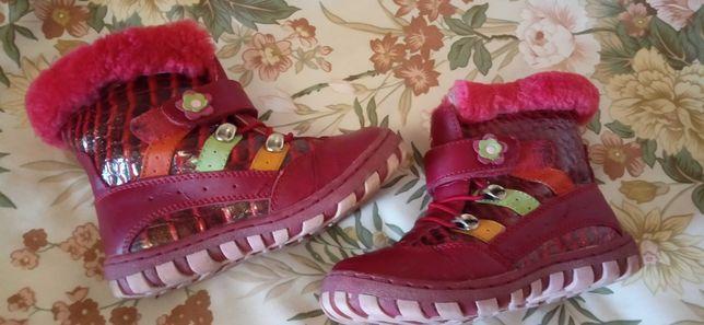 Сапожки ботинки  зима 27разм.