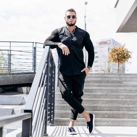 Шикарный мужской Костюм рубашка брюки Двойка летний Чоловічий комплект