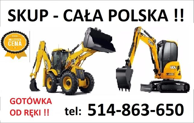 SKUP koparek koparko ładowarka minikoparka ładowarki teleskopowe !!!