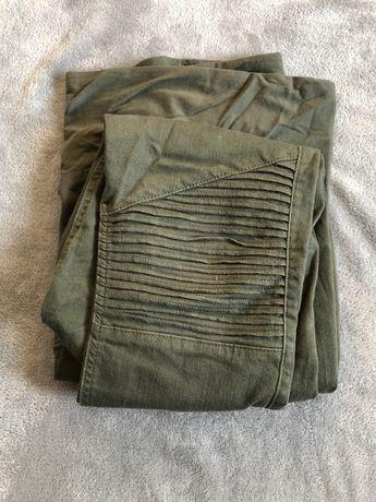 Zielone spodnie ciążowe H&M roz. M