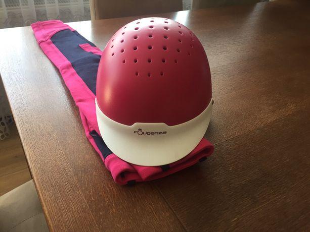 Kask jeździecki + spodnie pink