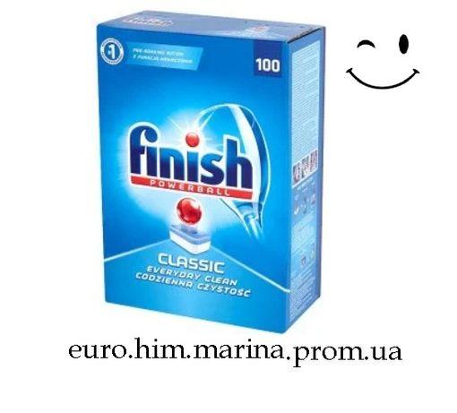 Таблетки для посудомоечных машин Finish Classic Lemon 100шт Опт!!!
