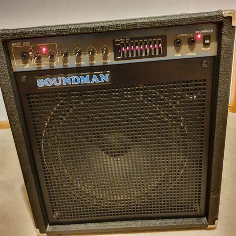 """Wzmacniacz basowy, combo ,bass amp. ,Soundman 250 W 8 ohm głośnik 15"""""""