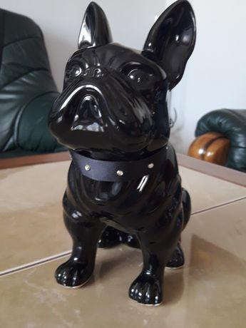 Duży ceramiczny pies buldog - Anglia